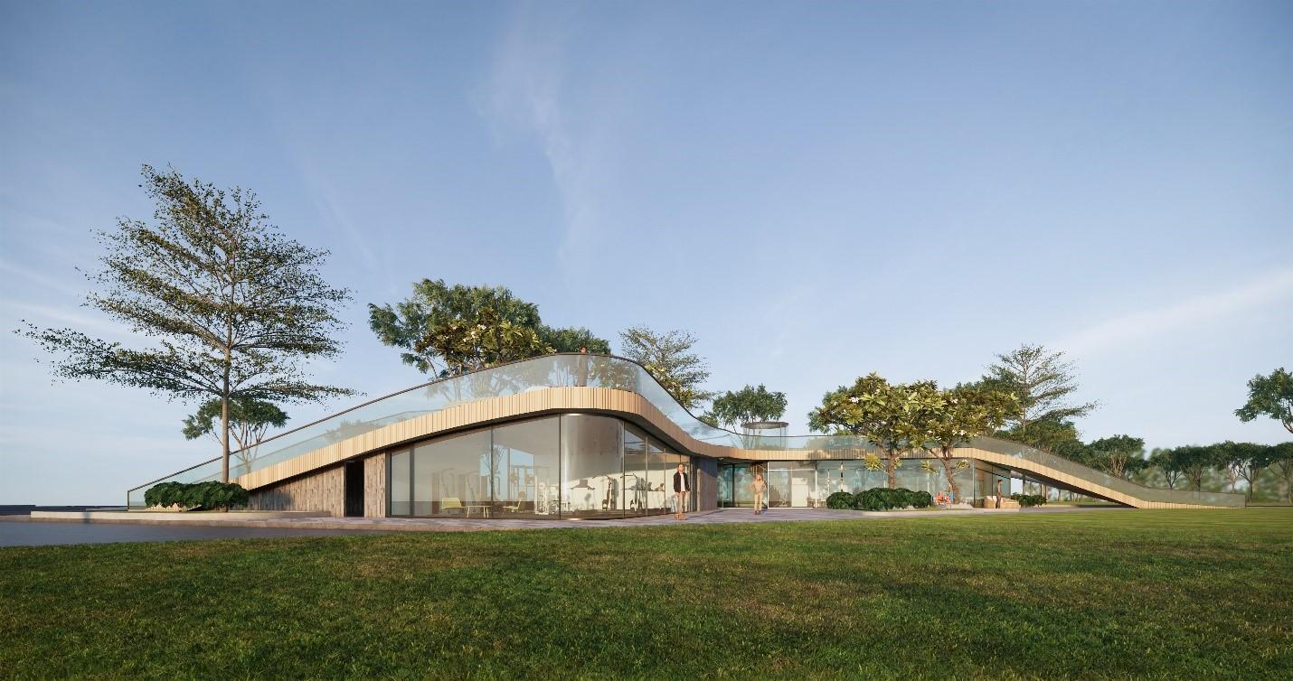 Yếu tố thiên nhiên với những mảng xanh rộng thoáng luôn được ưu tiên đưa vào thiết kế