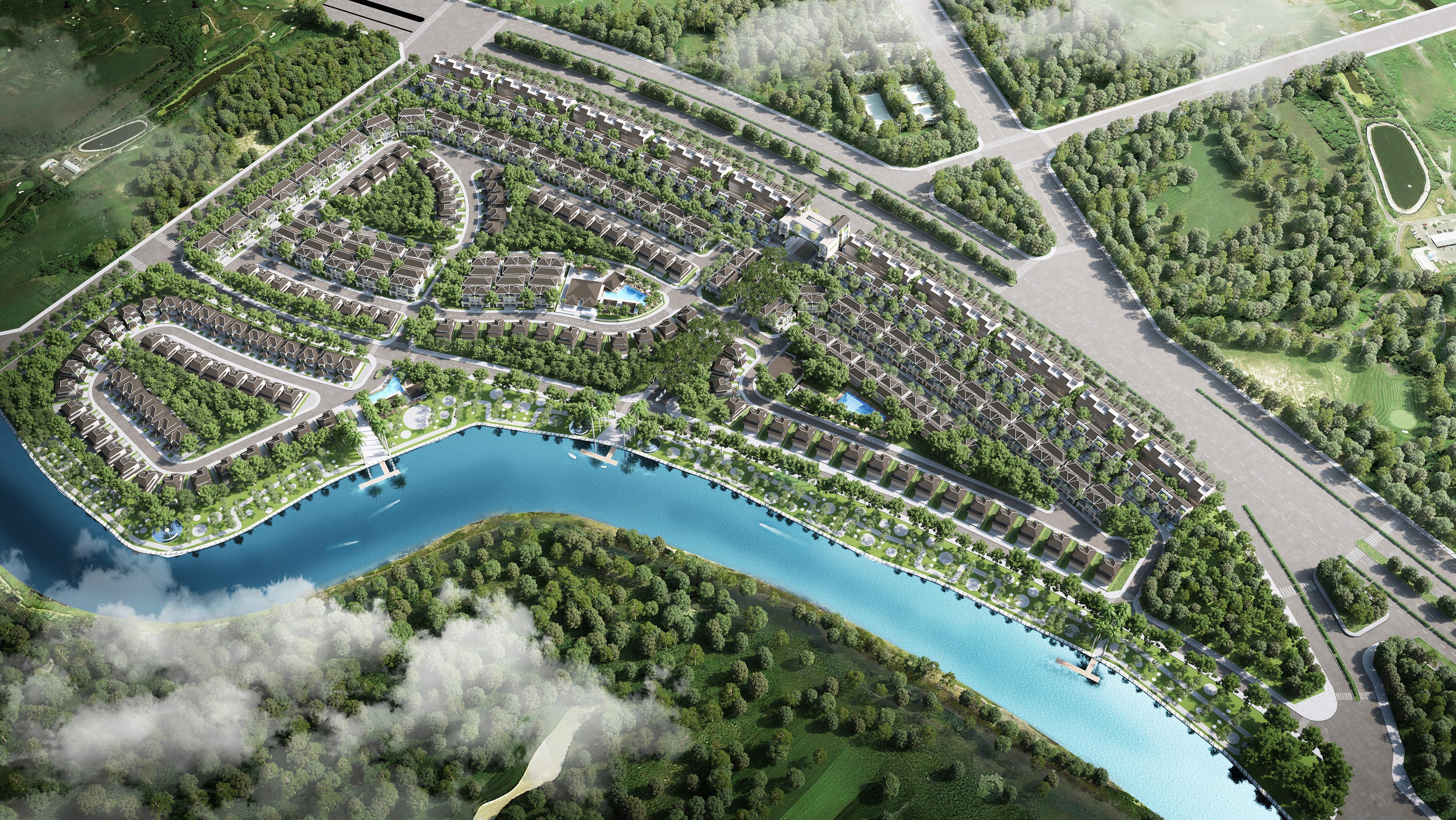 Mảng xanh và các vật liệu thân thiện với môi trường luôn được ưu tiên đưa vào xây dựng zeit RIVER COUNTY 1