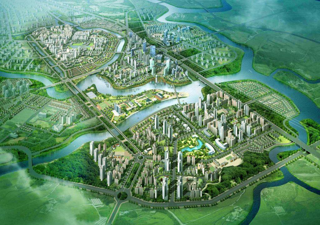 Phối cảnh mặt bằng tổng thể siêu đô thị Zeitgeist