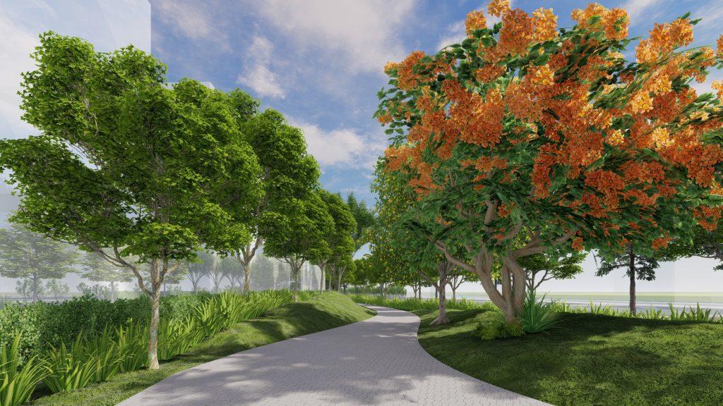 Công viên mùa Hè nằm trong Secret garden