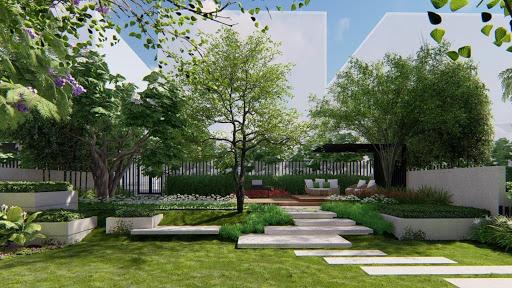 Dự án zeit RIVER COUNTY 1 sở hữu công viên với nhiều mảng xanh