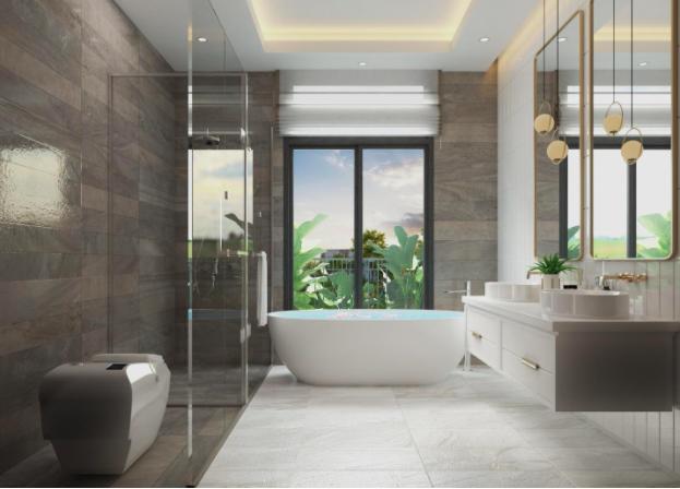 Phòng tắm của dự án zeit RIVER COUNTY 1 với thiết kế sang trọng, trang nhã