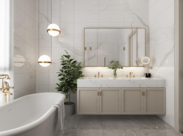 Phòng tắm theo phong cách Neoclassical mà zeit RIVER COUNTY 1